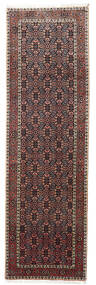 Bidjar Zanjan Rug 87X285 Authentic  Oriental Handknotted Hallway Runner  Dark Brown/Brown (Wool, Persia/Iran)