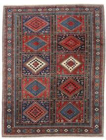 Yalameh Rug 215X272 Authentic  Oriental Handknotted Dark Red/Black (Wool, Persia/Iran)
