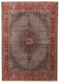 Moud Koberec 245X347 Orientální Ručně Tkaný Tmavě Červená/Tmavě Hnědá (Vlna/Hedvábí, Persie/Írán)