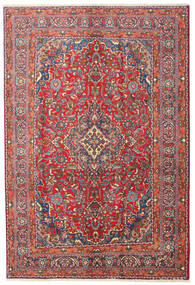 Mashad Rug 200X290 Authentic  Oriental Handknotted Dark Red/Dark Grey (Wool, Persia/Iran)