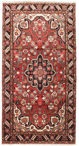 Hamadan Rug 104X192 Authentic  Oriental Handknotted Dark Red/Dark Brown (Wool, Persia/Iran)