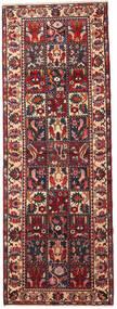 バクティアリ 絨毯 110X300 オリエンタル 手織り 廊下 カーペット 深紅色の/黒 (ウール, ペルシャ/イラン)