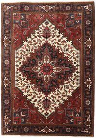 Heriz Matta 205X290 Äkta Orientalisk Handknuten Mörkbrun/Mörkröd (Ull, Persien/Iran)