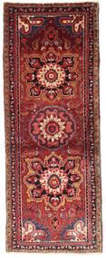 Heriz Matta 76X198 Äkta Orientalisk Handknuten Hallmatta Mörkröd/Roströd (Ull, Persien/Iran)