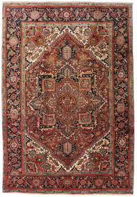 Heriz Rug 195X285 Authentic  Oriental Handknotted Dark Brown/Dark Red (Wool, Persia/Iran)