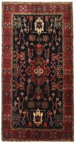 Heriz Teppich  155X300 Echter Orientalischer Handgeknüpfter Läufer Dunkelbraun/Dunkelrot (Wolle, Persien/Iran)