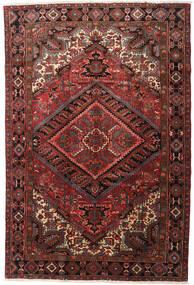 Heriz Matta 215X318 Äkta Orientalisk Handknuten Mörkröd/Mörkbrun (Ull, Persien/Iran)