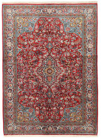 Sarough Szőnyeg 133X183 Keleti Csomózású Sötétpiros/Bézs (Gyapjú, Perzsia/Irán)