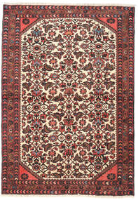 Hamadan Rug 100X145 Authentic  Oriental Handknotted Dark Red/Dark Grey (Wool, Persia/Iran)