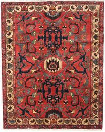 Bakhtiar Matta 130X165 Äkta Orientalisk Handknuten Mörkbrun/Roströd (Ull, Persien/Iran)