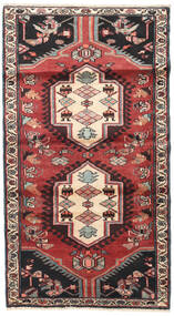 Hamadan Rug 110X200 Authentic  Oriental Handknotted Dark Brown/Dark Red (Wool, Persia/Iran)
