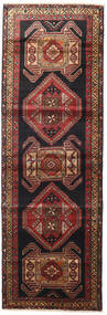 Sarab Vloerkleed 105X320 Echt Oosters Handgeknoopt Tapijtloper Donkerrood/Zwart (Wol, Perzië/Iran)