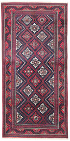 Beluch Tappeto 97X195 Orientale Fatto A Mano Porpora Scuro/Grigio Chiaro (Lana, Persia/Iran)
