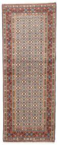 Moud Alfombra 75X190 Oriental Hecha A Mano Gris Claro/Marrón Oscuro (Lana/Seda, Persia/Irán)