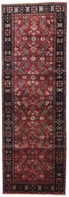 Heriz Vloerkleed 105X315 Echt Oosters Handgeknoopt Tapijtloper Donkerrood/Zwart (Wol, Perzië/Iran)