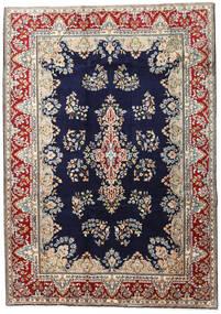 Kerman Szőnyeg 190X270 Keleti Csomózású Sötétlila/Világosbarna (Gyapjú, Perzsia/Irán)