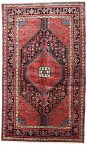 Nahavand Rug 150X245 Authentic  Oriental Handknotted Dark Brown/Dark Red (Wool, Persia/Iran)