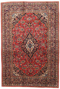 Mashad Rug 200X295 Authentic  Oriental Handknotted Dark Red/Rust Red (Wool, Persia/Iran)