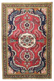 Tabriz Teppe 97X150 Ekte Orientalsk Håndknyttet Mørk Grå/Mørk Rød (Ull, Persia/Iran)