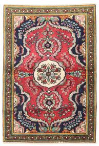 Tabriz Teppe 100X150 Ekte Orientalsk Håndknyttet Mørk Grå/Mørk Rød (Ull, Persia/Iran)
