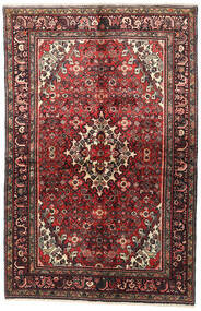 Hosseinabad Rug 143X223 Authentic  Oriental Handknotted Dark Brown/Dark Red (Wool, Persia/Iran)
