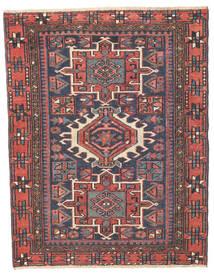 Heriz Patina Teppich 96X123 Echter Orientalischer Handgeknüpfter Dunkelgrau/Rost/Rot (Wolle, Persien/Iran)