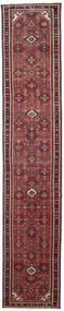 Hamadan Patina Dywan 80X407 Orientalny Tkany Ręcznie Chodnik Ciemnobrązowy/Ciemnoczerwony (Wełna, Persja/Iran)