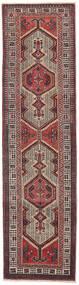 Sarab Patina Rug 87X327 Authentic  Oriental Handknotted Hallway Runner  Dark Brown/Brown (Wool, Persia/Iran)