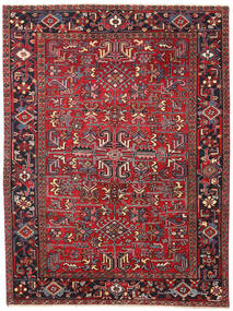 Heriz Patina Rug 188X245 Authentic  Oriental Handknotted Dark Red/Dark Grey (Wool, Persia/Iran)
