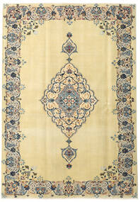 Keshan Patina Rug 165X238 Authentic  Oriental Handknotted Dark Beige/Beige (Wool, Persia/Iran)