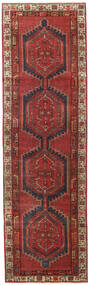 Ardebil Patina Rug 90X303 Authentic  Oriental Handknotted Hallway Runner  Dark Red/Dark Brown (Wool, Persia/Iran)