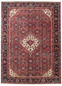 Hosseinabad Patina Rug 138X190 Authentic  Oriental Handknotted Dark Red/Black (Wool, Persia/Iran)