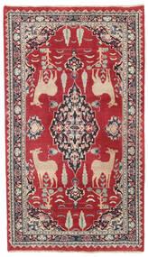Mashad Patina Rug 104X182 Authentic  Oriental Handknotted Crimson Red/Dark Grey (Wool, Persia/Iran)
