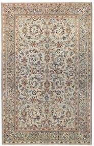 Keszan Patina Dywan 137X215 Orientalny Tkany Ręcznie Jasnoszary/Ciemnobrązowy (Wełna, Persja/Iran)