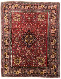 Heriz Matto 140X180 Itämainen Käsinsolmittu Tummanpunainen/Tummanruskea (Villa, Persia/Iran)