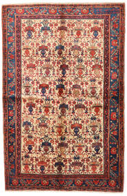 Afshar/Sirjan Teppe 152X235 Ekte Orientalsk Håndknyttet Mørk Rød/Mørk Lilla (Ull, Persia/Iran)