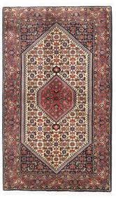 Bidjar Zanjan Teppe 89X148 Ekte Orientalsk Håndknyttet Mørk Rød/Mørk Brun (Ull, Persia/Iran)