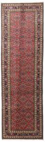 Bidjar Zanjan Rug 87X281 Authentic  Oriental Handknotted Hallway Runner  Dark Red/Dark Brown (Wool, Persia/Iran)