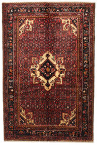Hosseinabad Rug 160X241 Authentic  Oriental Handknotted Dark Red/Dark Brown (Wool, Persia/Iran)
