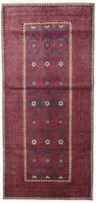 Balúchi Patina Tapete 116X252 Oriental Feito A Mão Cinza Escuro/Vermelho (Lã, Pérsia/Irão)
