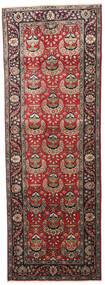 Tabriz Teppe 96X279 Ekte Orientalsk Håndknyttet Teppeløpere Mørk Brun/Mørk Rød (Ull, Persia/Iran)