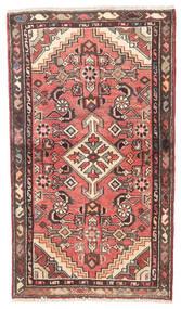 Hosseinabad Rug 70X120 Authentic  Oriental Handknotted Light Pink/Dark Brown (Wool, Persia/Iran)