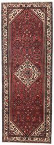 Hamadan Patina Teppich 110X304 Echter Orientalischer Handgeknüpfter Läufer Dunkelbraun/Dunkelrot (Wolle, Persien/Iran)