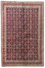 Wiss Koberec 126X190 Orientální Ručně Tkaný Tmavošedý/Tmavě Červená (Vlna, Persie/Írán)