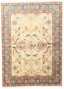 Heriz Matta 162X225 Äkta Orientalisk Handknuten Beige/Mörkbeige (Ull, Persien/Iran)