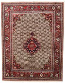 Hamadan Matto 198X250 Itämainen Käsinsolmittu Tummanpunainen/Tummanruskea (Villa, Persia/Iran)