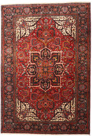 Heriz Rug 205X294 Authentic  Oriental Handknotted Dark Red/Black (Wool, Persia/Iran)
