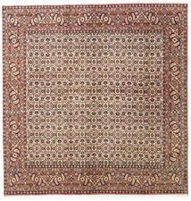 Bidjar Zanjan Covor 200X204 Orientale Lucrat Manual Pătrat Roșu-Închis/Maro (Lână, Persia/Iran)