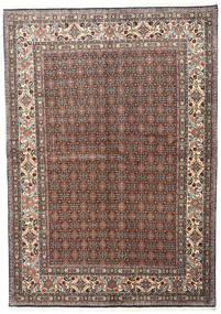 Moud Tappeto 168X240 Orientale Fatto A Mano Grigio Scuro/Rosso Scuro (Lana/Seta, Persia/Iran)