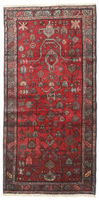 Hamadan Rug 100X202 Authentic  Oriental Handknotted Dark Red/Dark Brown (Wool, Persia/Iran)